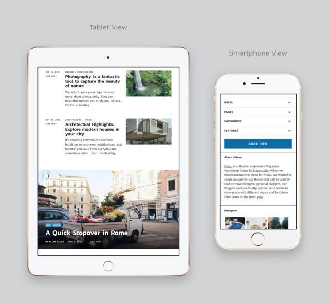Nikau Magazine WordPress Theme Responsive Design