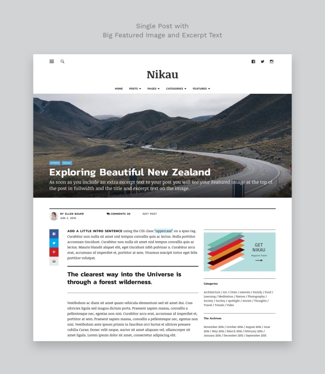 Nikau WordPress Magazine Theme Single Post