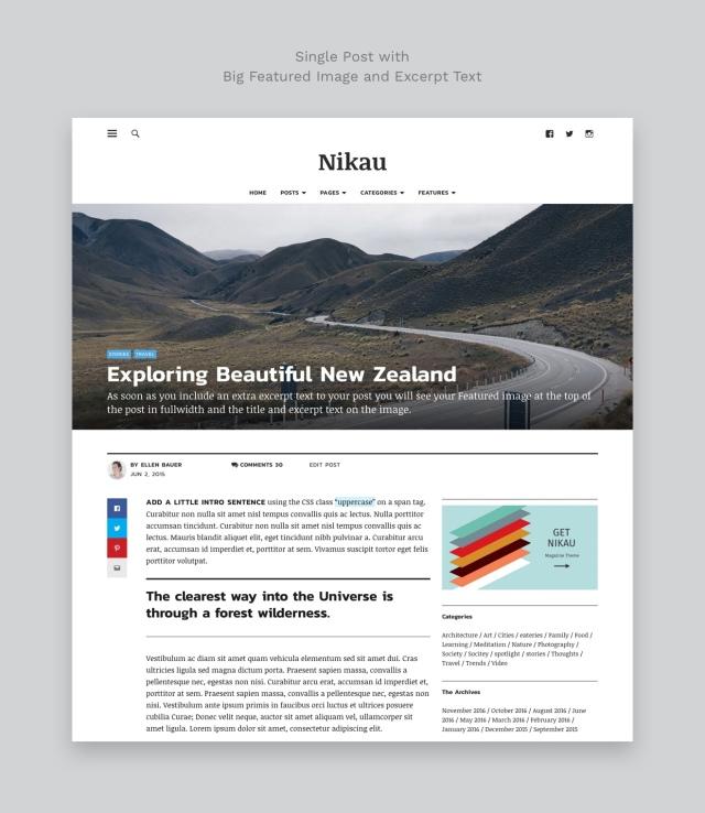 Nikau WordPress Magazine Theme Single Post