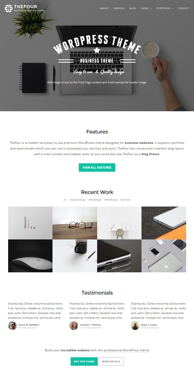 TheFour WordPress Theme Screenshot