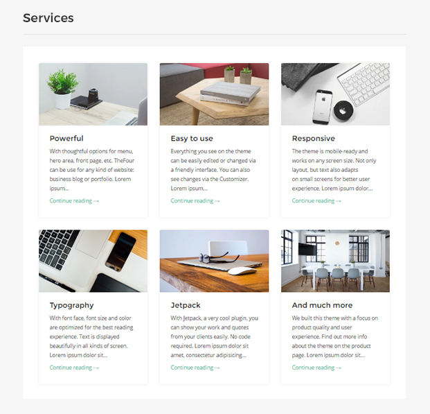 TheFour WordPress Theme Services