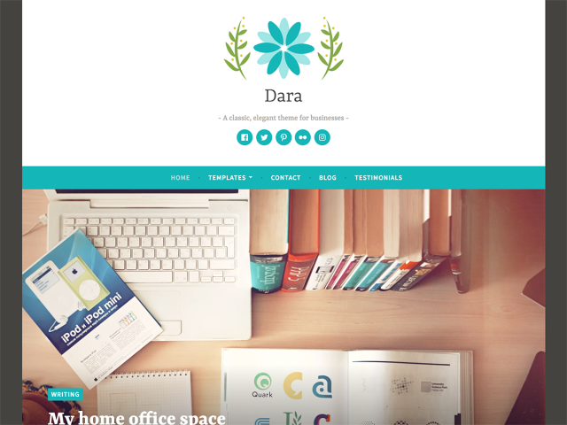 Dara Responsive WordPress theme