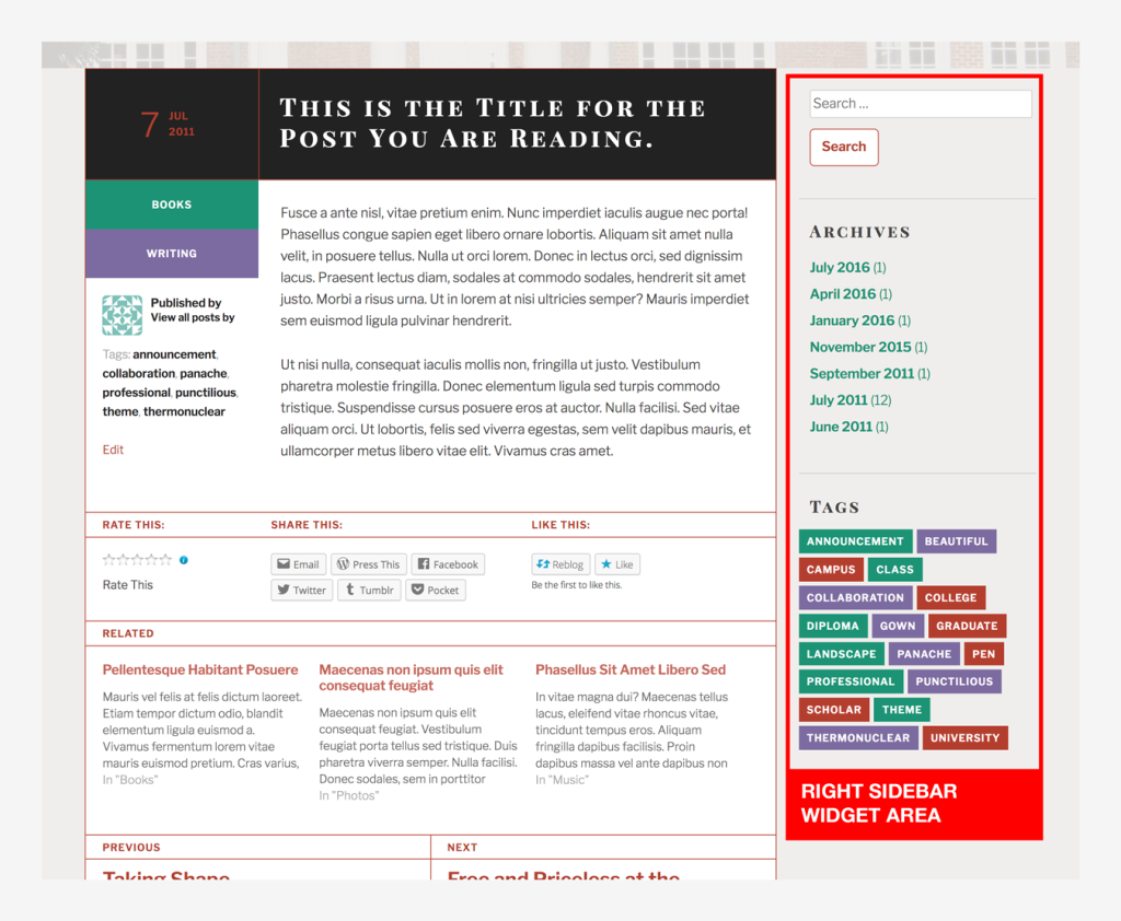 TextBook Theme — WordPress com