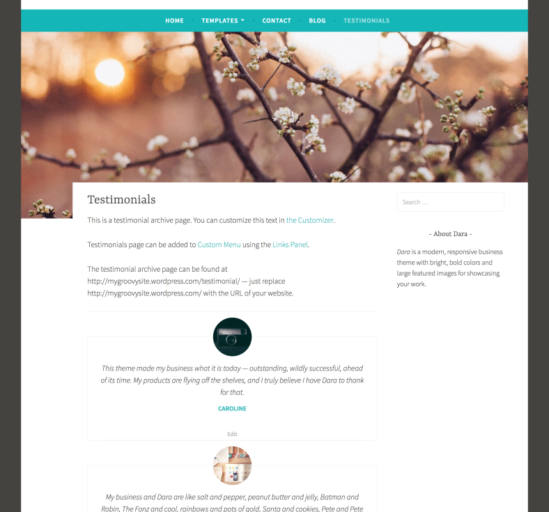 Testimonials Archive Page