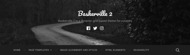 The main menu area, under the site header.