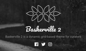 Baskerville 2 header with a logo