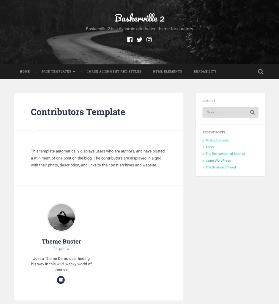 Contributors template