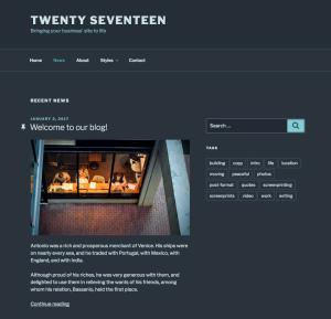 Twenty Seventeen Theme — WordPress.com