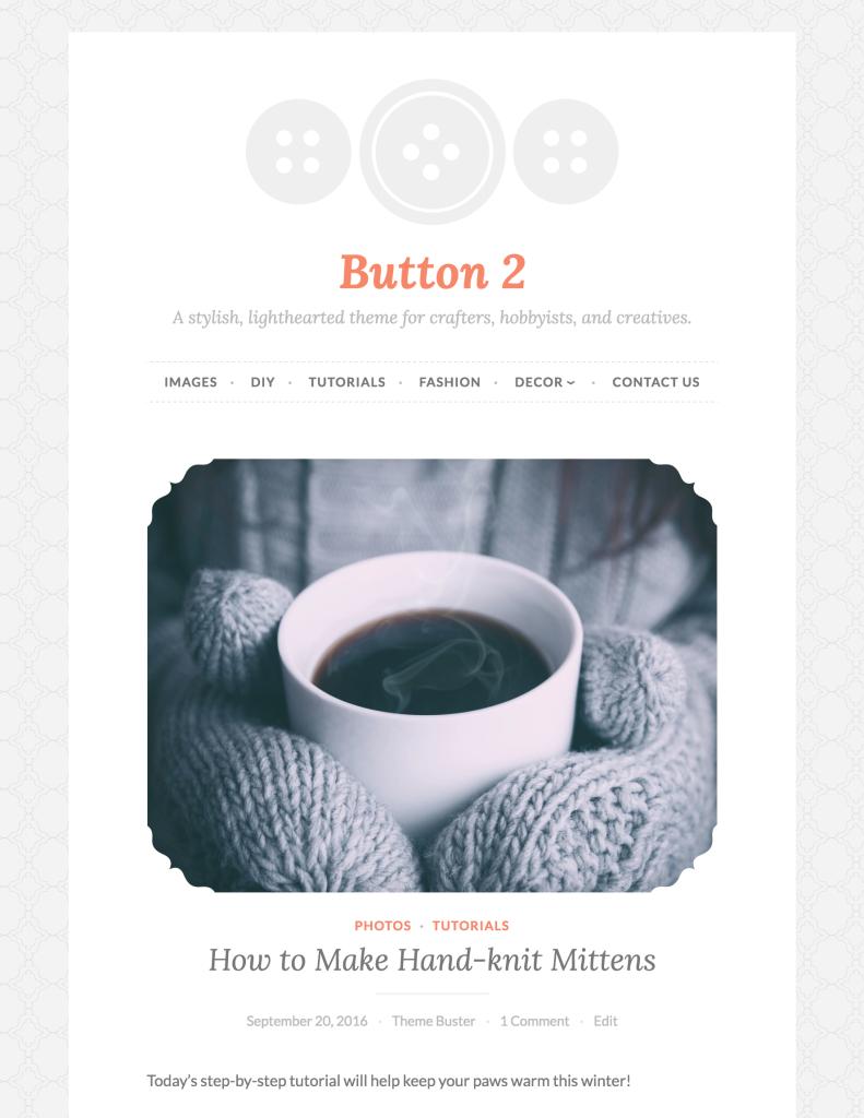 Button as a single-column theme.