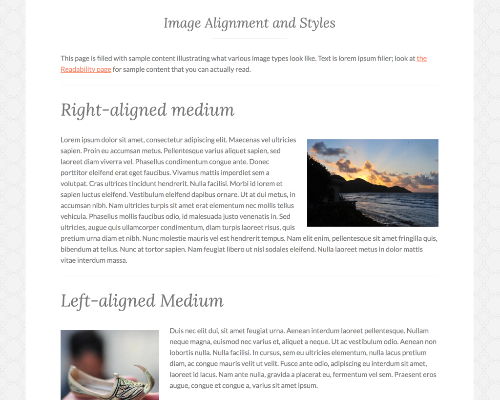 Full Width, No Sidebar page template.