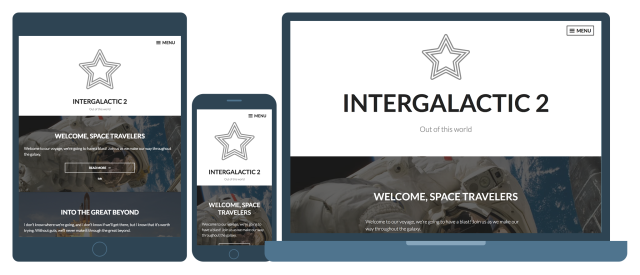 Intergalactic 2 Responsive WordPress Theme