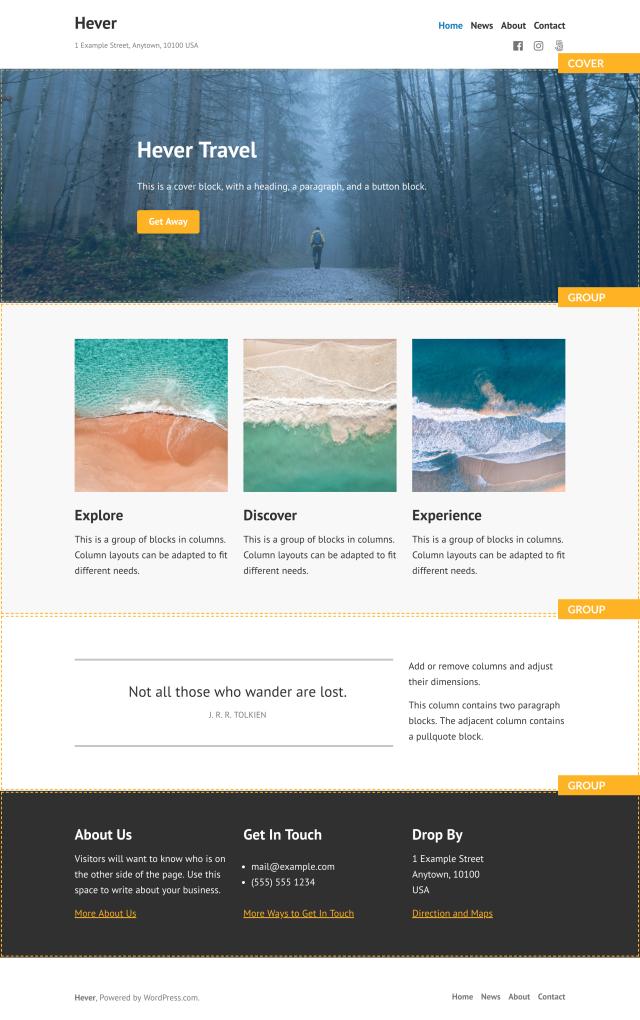 Hever Theme — WordPress com