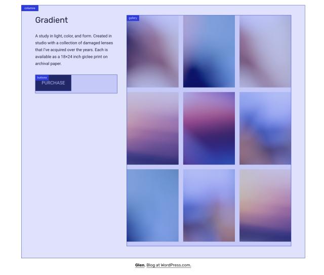 Glen Theme Homepage